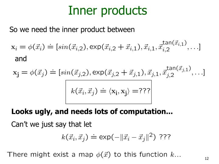 Inner products