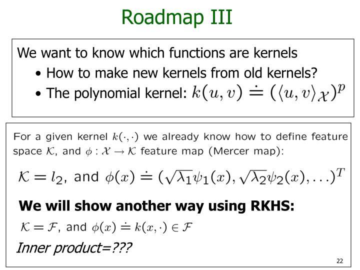 Roadmap III