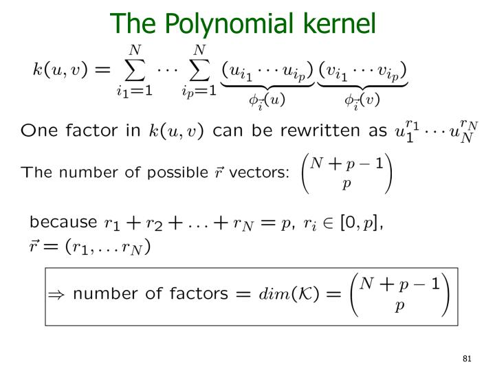 The Polynomial kernel