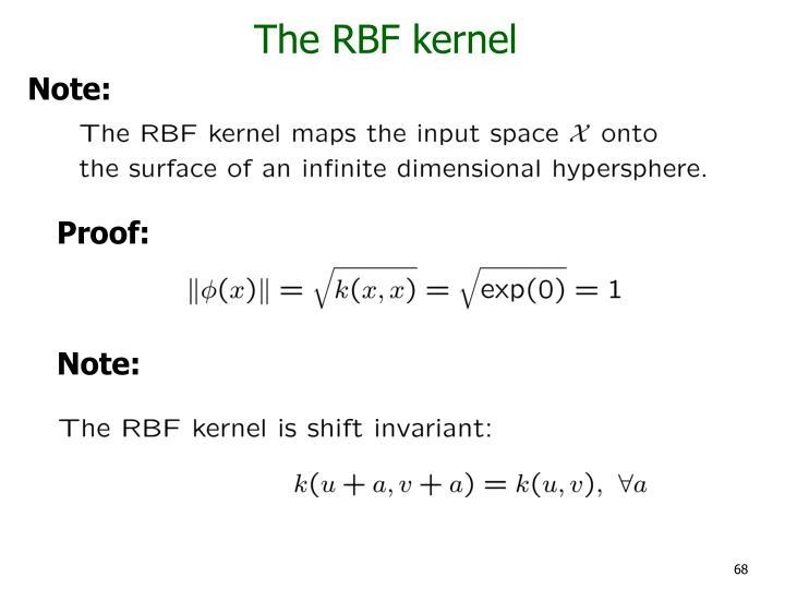 The RBF kernel