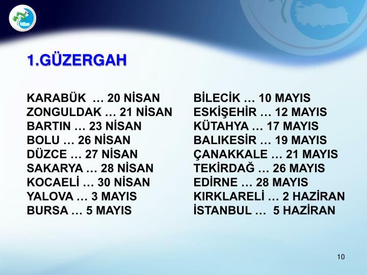 1.GÜZERGAH