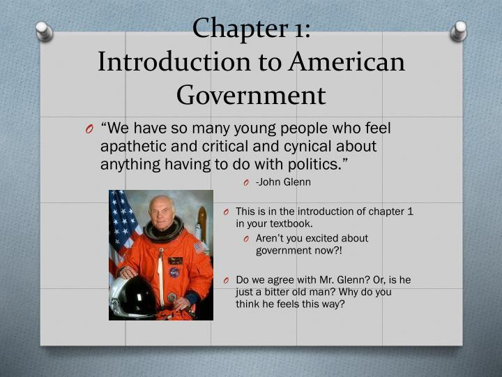 chapter 1 introduction to american government n.