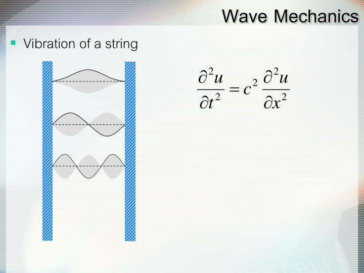 Wave Mechanics