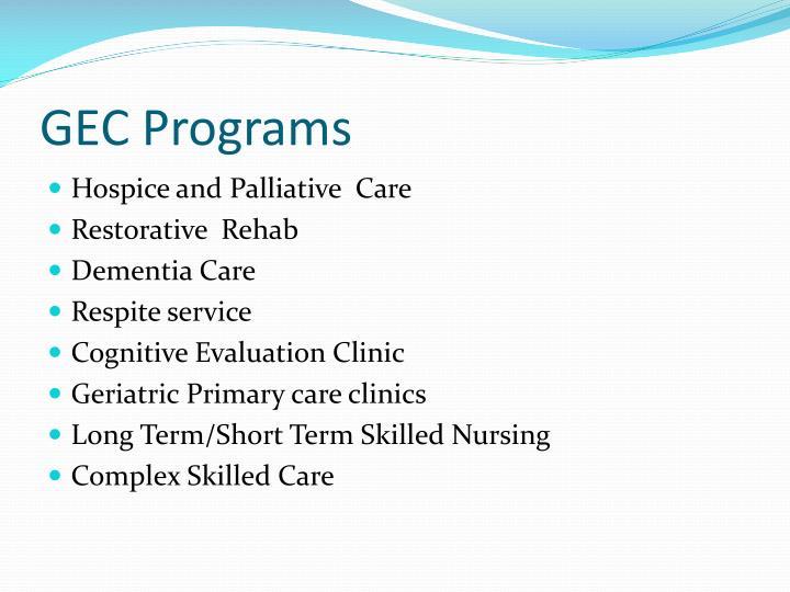 GEC Programs