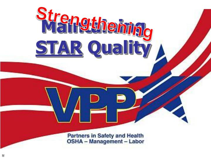 maintaining star quality n.