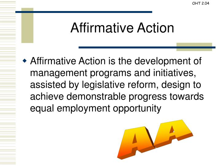 eeo and affirmative action essay Free affirmative action papers, essays by both the office of federal contract compliance and the equal employment opportunity commission (eeoc.