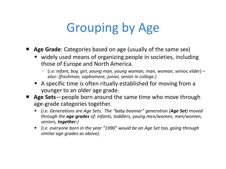 Grouping by age