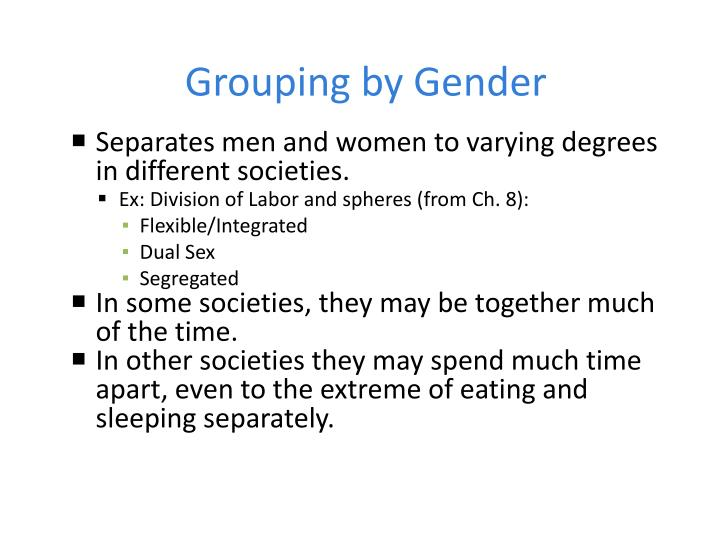 Grouping by Gender