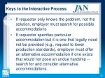 keys to the interactive process1