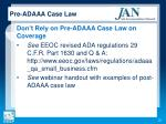 pre adaaa case law