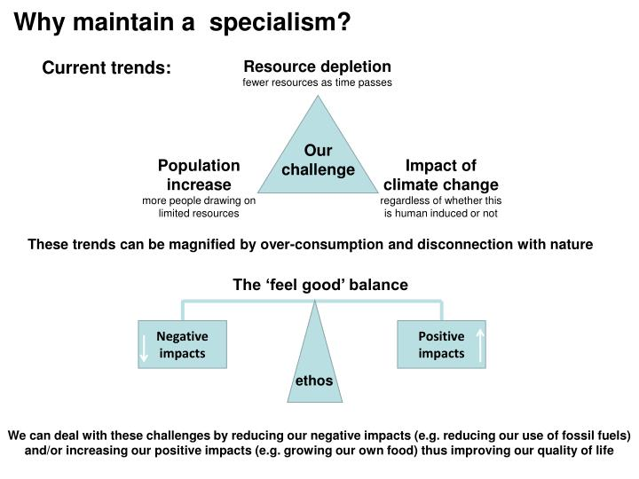 Why maintain a  specialism?