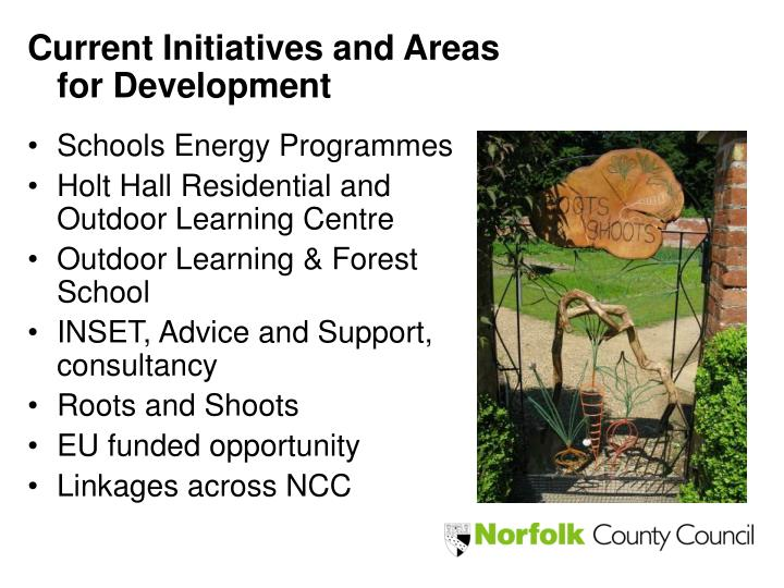 Current Initiatives and Areas for Development