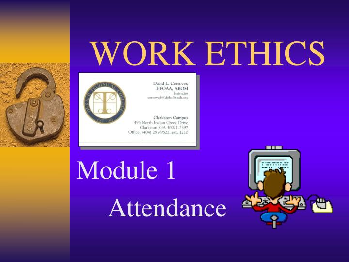 work ethics n.