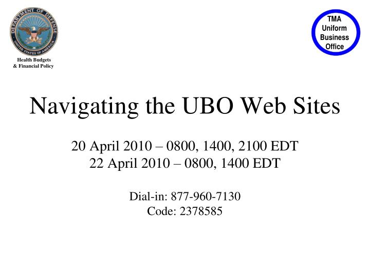 Navigating the UBO Web Sites