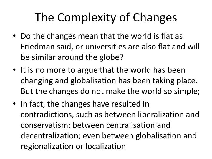 The Complexity of Changes