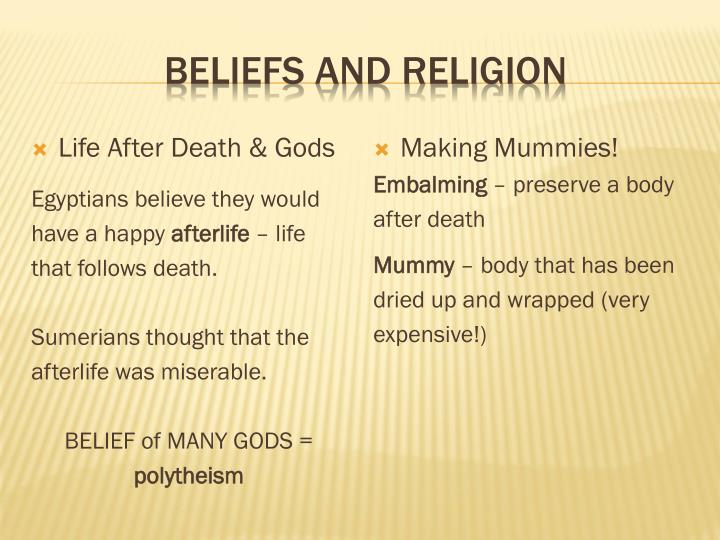 Beliefs and Religion