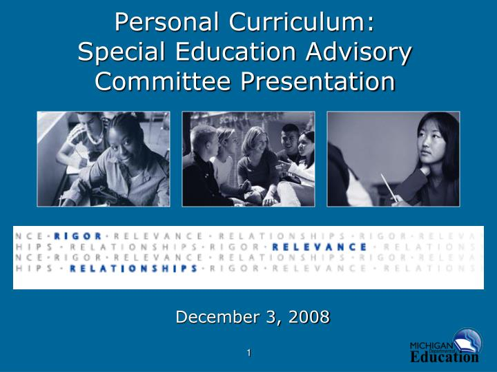 personal curriculum special education advisory committee presentation n.