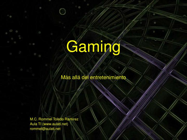 gaming m s all del entretenimiento n.