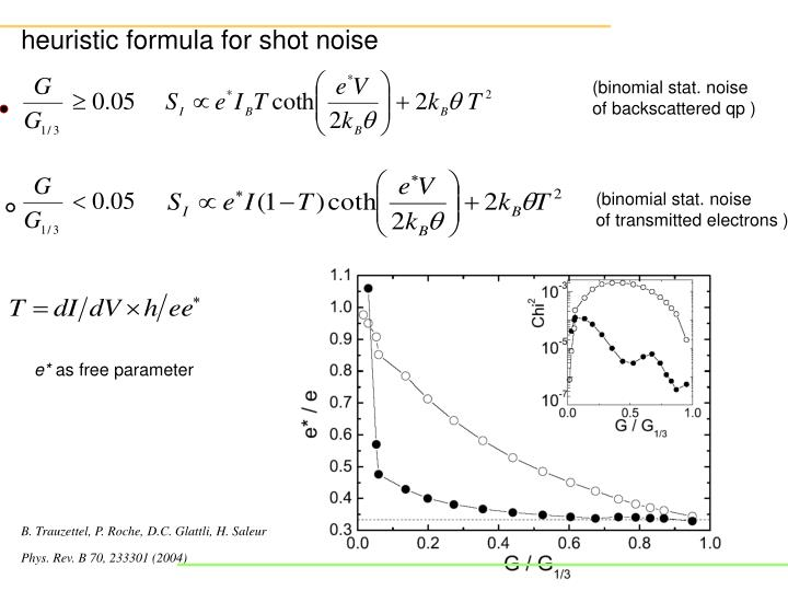 heuristic formula for shot noise