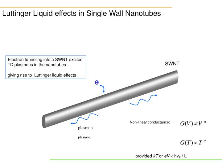 Luttinger Liquid effects in Single Wall Nanotubes