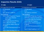 inspection results eao fy 2006 fy 20071