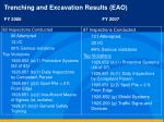trenching and excavation results eao fy 2006 fy 2007
