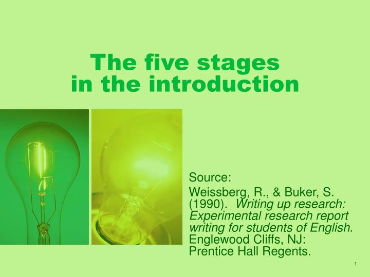 the five stages in the introduction n.