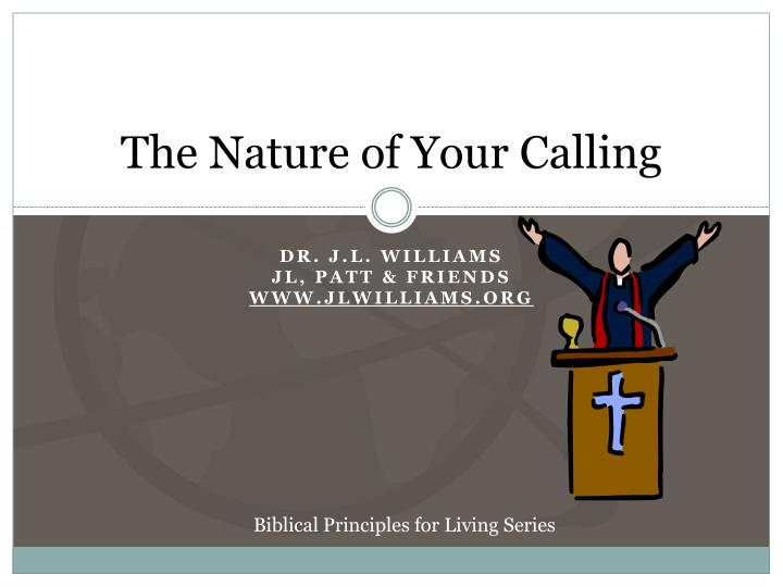 the nature of your calling n.
