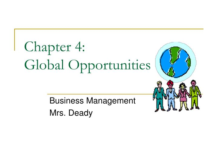 chapter 4 global opportunities n.