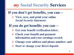 my social security services
