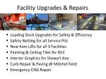 facility upgrades repairs
