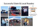 successful state local roadeo