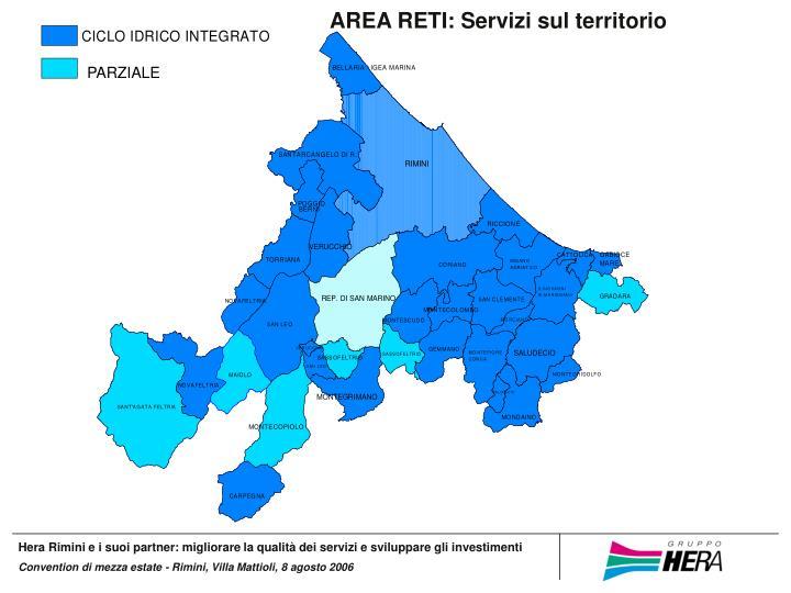 AREA RETI: Servizi sul territorio