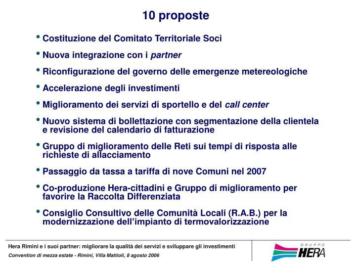 10 proposte