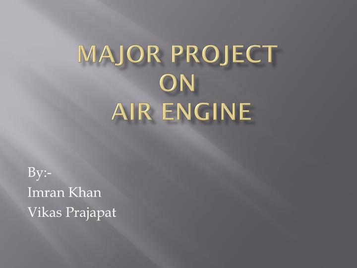 major project on air engine n.