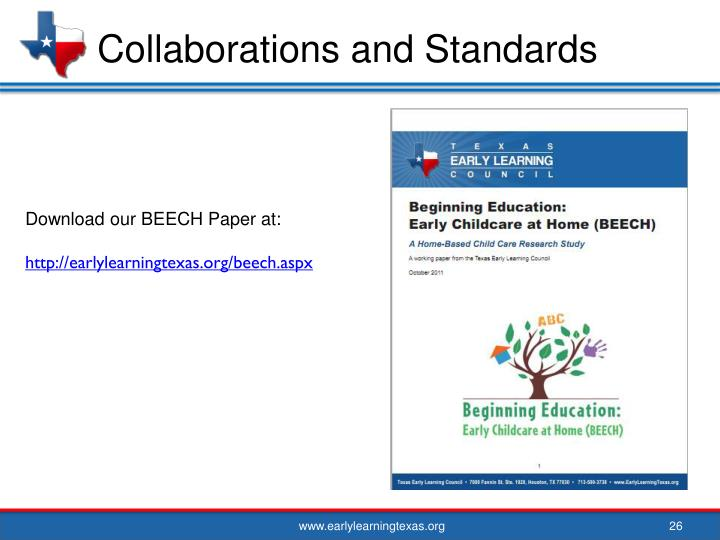 Collaborations and Standards