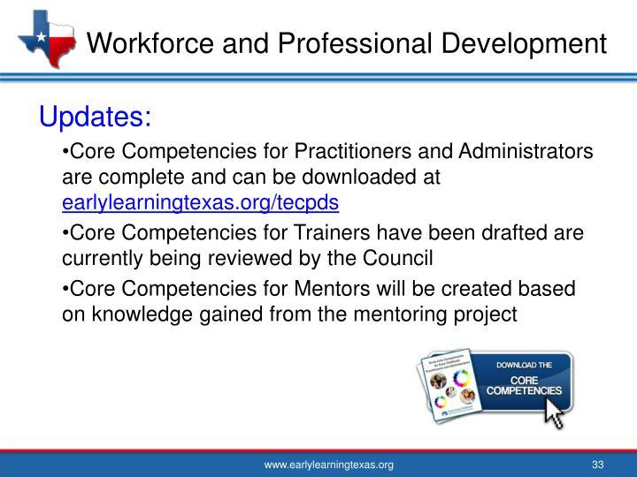 Workforce and Professional Development