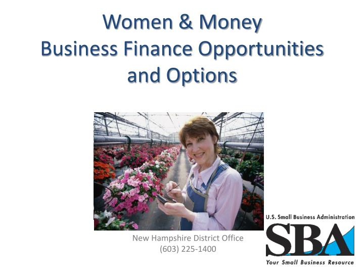 women money business finance opportunities and options n.