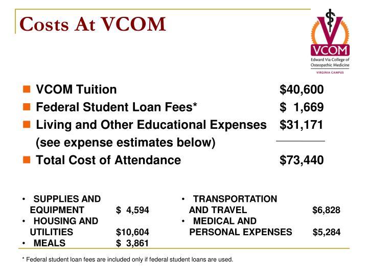 Costs at vcom