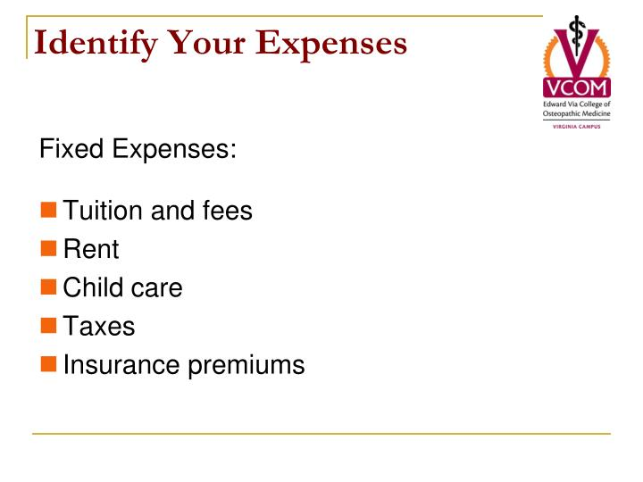 Identify Your Expenses