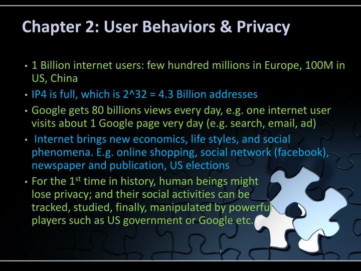 Chapter 2: User Behaviors & Privacy