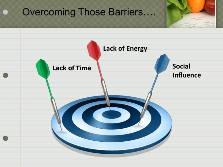 Overcoming Those Barriers….