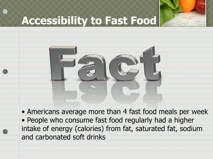 Accessibility to Fast Food