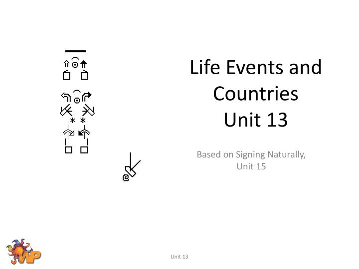 life events and countries unit 13 n.