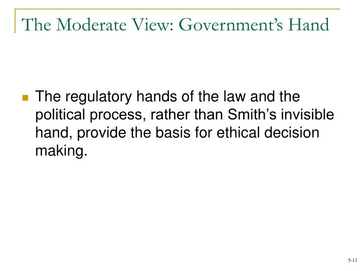 The Moderate View: Government's Hand