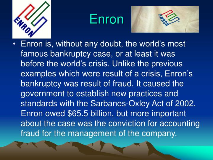 enrons accounting fraud That enron's false accounting was not spotted sooner has prompted the accounting industry to take a hard look at itself hundreds of us firms which used so-called aggressive accounting methods to keep debts or one-off charges away from the headline figures have been affected.