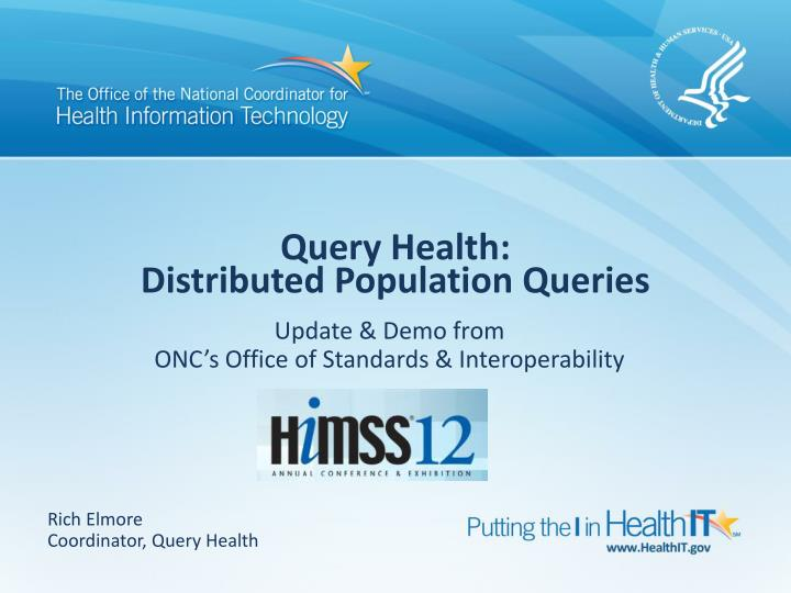 query health distributed population queries n.
