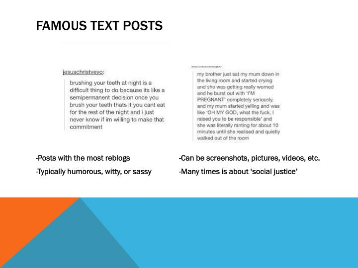 Famous text posts