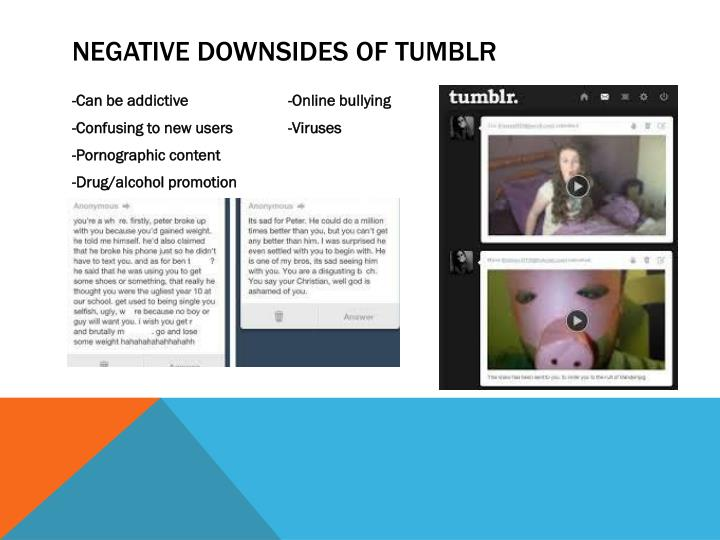Negative downsides of tumblr