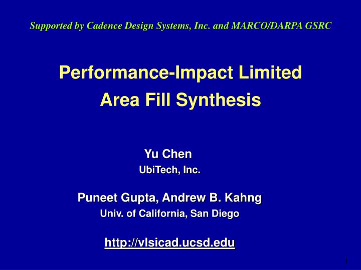 Performance impact limited area fill synthesis
